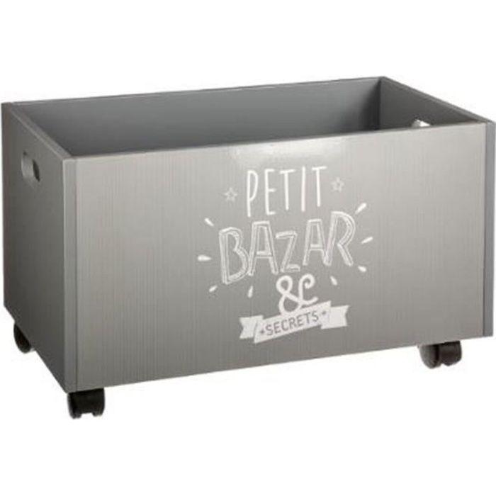 """COFFRE - MALLE Paris Prix - Coffre à Roulettes """"Petit Bazar"""" 48cm"""