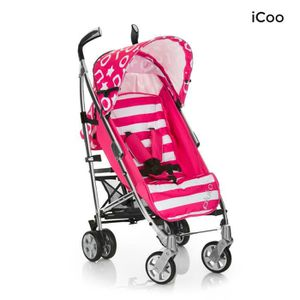 ICOO Poussette Canne Pluto Stripe pink