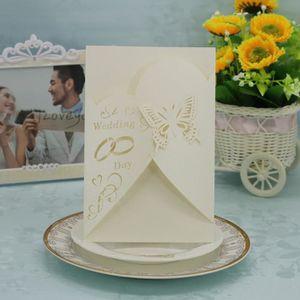 FAIRE-PART - INVITATION 20 pcs délicate sculpté romantique carte d'invitat
