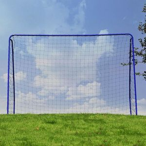609eb30f7f50f8 MINI-CAGE DE FOOTBALL Cage But de football METAL 182x122x61cm Bleu ...