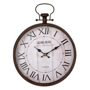 HORLOGE - PENDULE Horloge murale style Loft / Industriel - Taille: 3