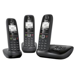 Téléphone fixe Gigaset AS405A Trio Téléphone sans Fil Répondeur N