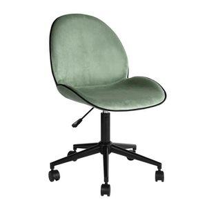 CHAISE DE BUREAU Homy Casa Chaise de bureau à roulettes - Velours -