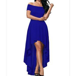 ROBE DE CÉRÉMONIE Bleu royal Robe Longue de Soirée Cocktail Base Asy