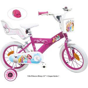 VÉLO ENFANT Vélo 14'' PRINCESS / DISNEY équipé de 2 Freins ave
