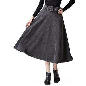JUPE jupe longue évasée à taille haute pour femmes 1YJD