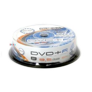 CD - DVD VIERGE 25 DVD+R Imprimable 8,5GB DOUBLE LAYER