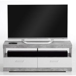 MEUBLE TV Meuble TV en panneaux de particules, gris béton LA