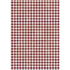 Feuille décopatch Papier patch - Carreaux - 3 feuilles - Rayher