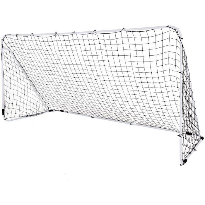 Cage de Football Transportable Filet Imperméable et Poteaux Solides,But de Foot Amovible Montage Simple,Ballon de Football d'Entraîn