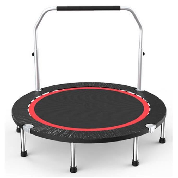 Dia.100cm Trampoline de Fitness Pliable avec Poignée Ajustable Coussin de Sécurité pour Enfants, Adultes Charge Maximale de 136kg