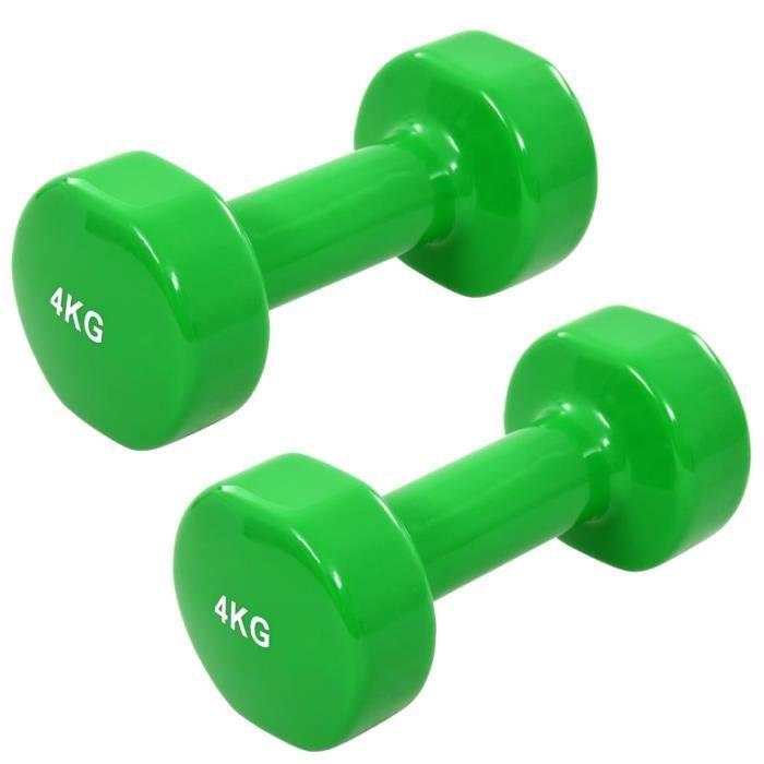 RIN Haltères 2 pcs 8 kg Fonte Vert