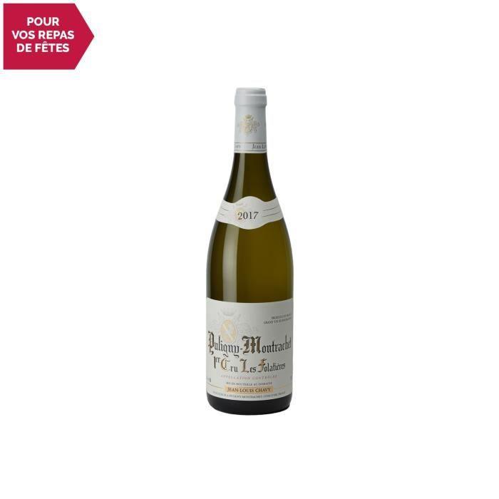 Puligny-Montrachet premier cru Les Folatières Blanc 2017 - 75cl - Domaine Jean-Louis Chavy - Vin AOC Blanc de Bourgogne - Cépage