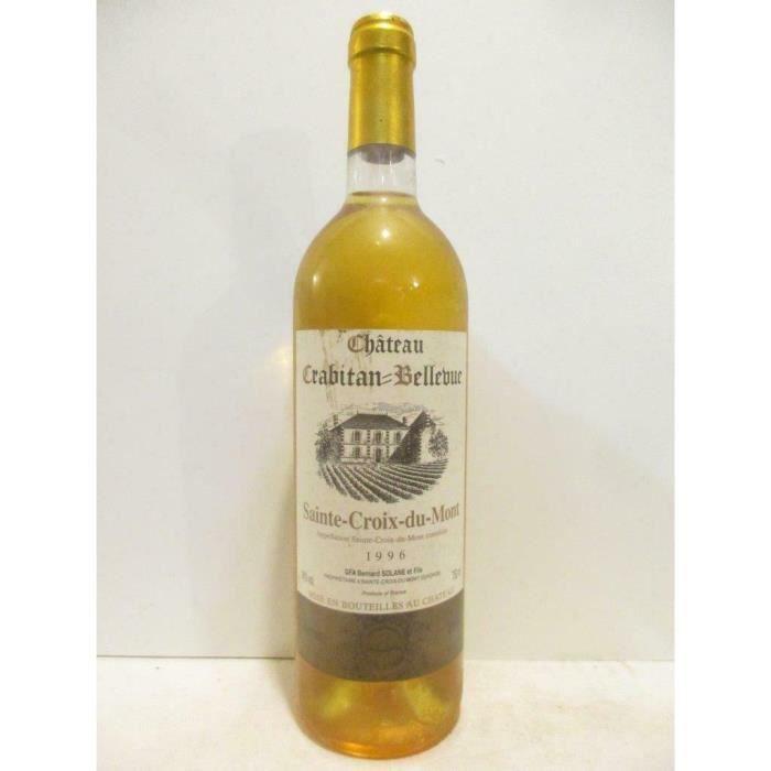 sainte-croix du mont château crabitan-bellevue liquoreux 1996 - bordeaux