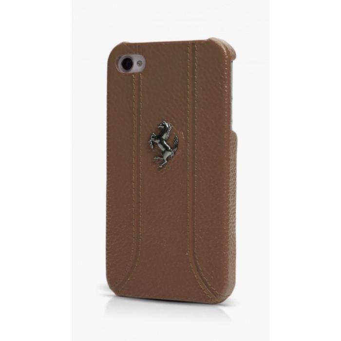 Coque iPhone 5 de protection ferrari en cuir