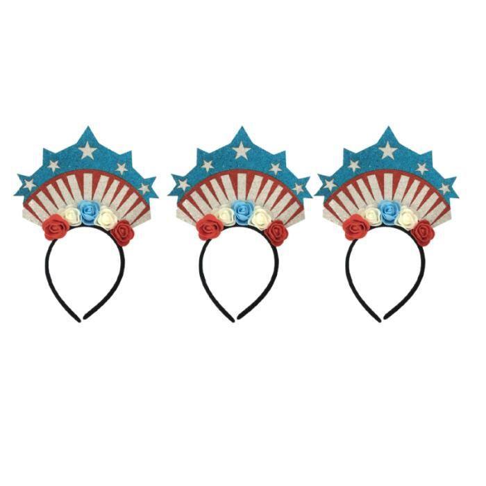 3 pièces cerceau de cheveux amérique Rose drôle paillettes Photo accessoire bandeau de pinces à CERCEAU DE GYMNASTIQUE RYTHMIQUE