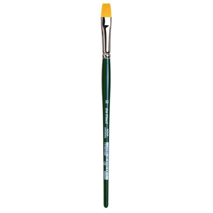 Pinceaux da Vinci Nova - Serie 122 - Brosse en Fibres synthétiques, Ligne School et Hobby - Taille 12 121522