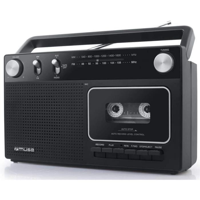 RADIO CD Muse M152 RC Reacutetro Enregistreur Cassette avec Fonction Enregistrement Fonctionnement sur Batterie Possible Tuner F438