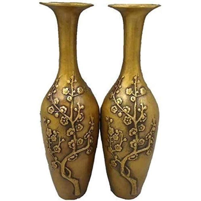 VASE NGER Vase Vase Creative Simpliciteacute Vases Vintage Bronze Deacutecoration Robuste Grand Laiton Ornements Design Prune En1884