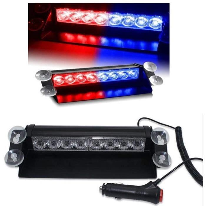 Lumières LED d'urgence voyant d'avertissement LED,12V 8 voyants de balisage d'avertissement de danger de LED pour tableau de bo 106