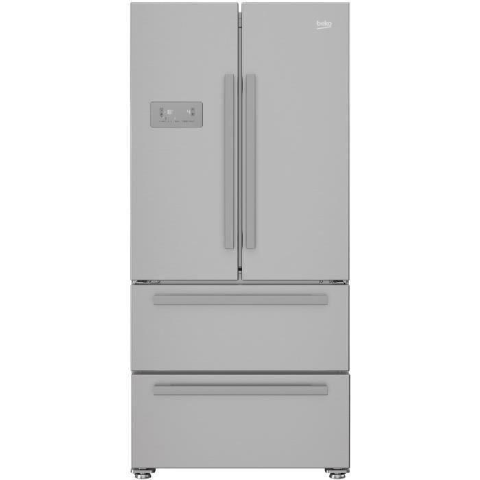 BEKO REM60SN Réfrigérateur multiportes - 539 L (387+152) - Froid ventilé - NeoFrost - Gris acier