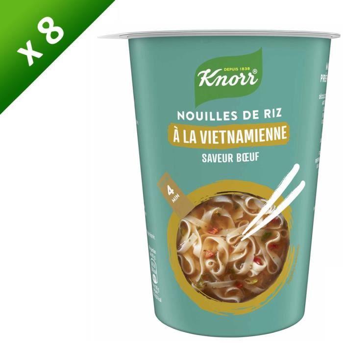 KNORR Nouilles de Riz à la Vietnamienne Bœuf - Lot de 8x 60 g