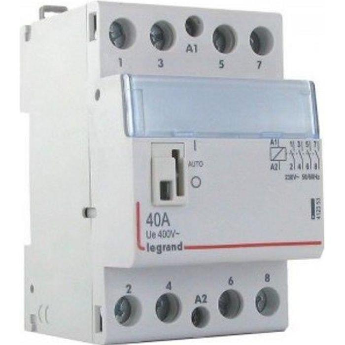 Contacteur de puissance 230V 4 contacts 40A 4F legrand-412553 - Contacteur tétrapolaire 40A 4F