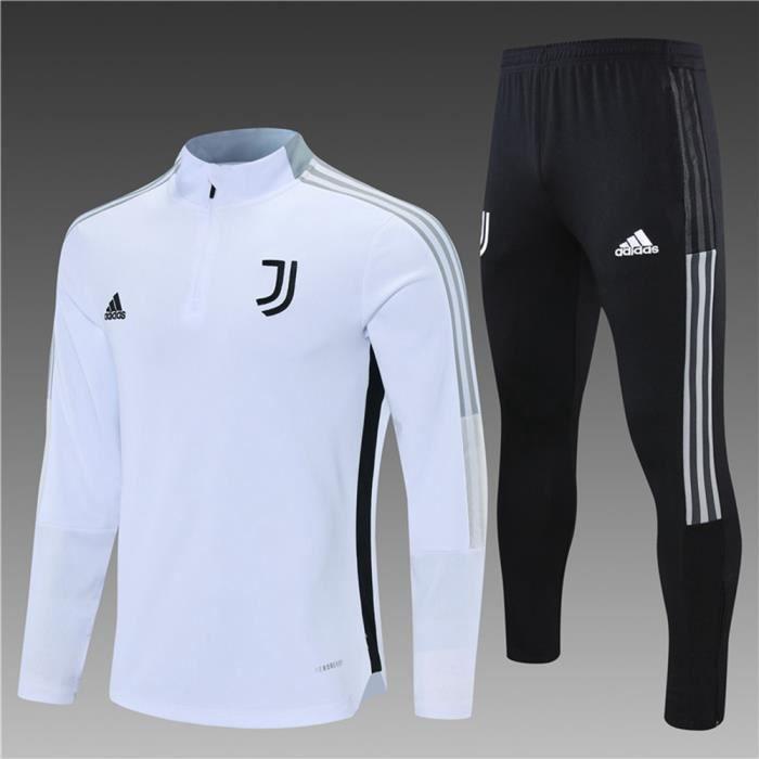 Maillot Foot Adidas Juventus 2021 2022 Survêtements Foot Homme Enfants Nouveau - Blanc