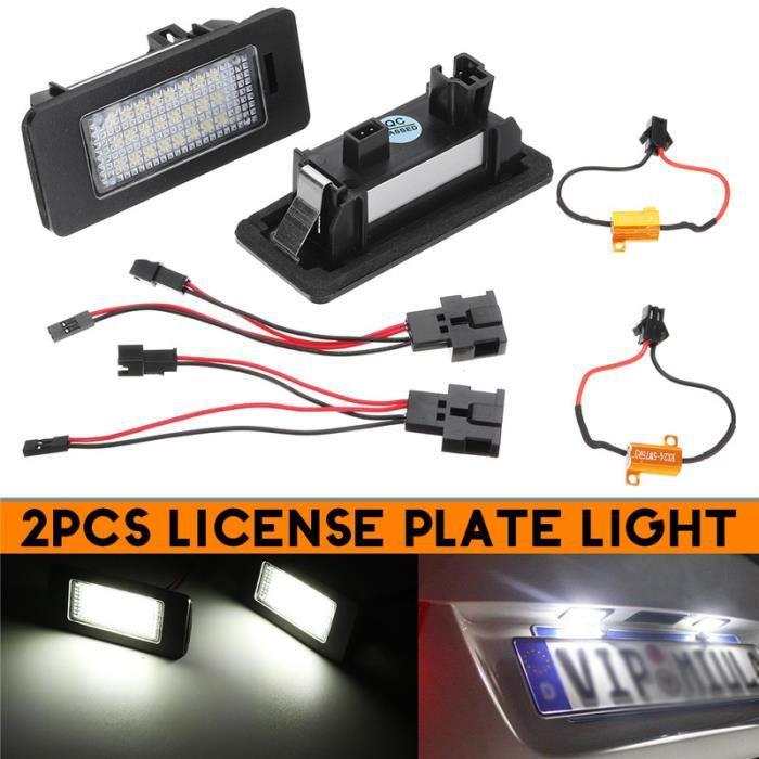 2Pcs 24LED Lampe plaque d'immatriculation license Pour Audi A1 A5 A6 A7 VW Volkswagen Jetta Passat