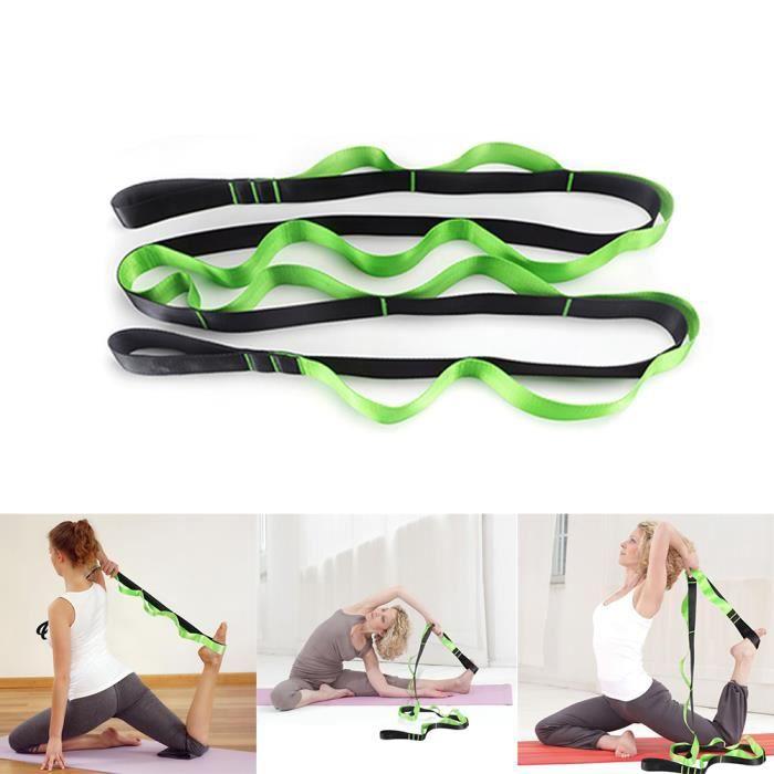 1 Bande de résistance à l'étirement Yoga Entraînement élastique Équipement de fitness -Vert