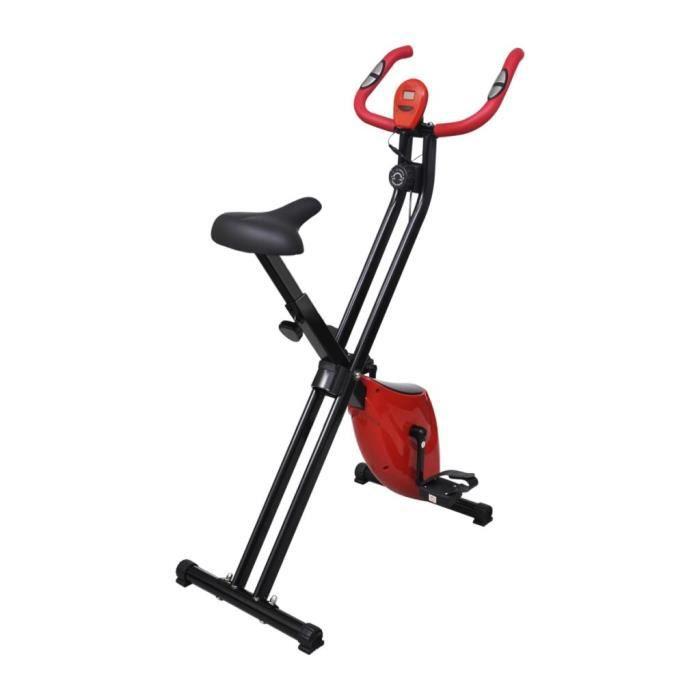 Vélo d'appartement pliable Magnétique Xbike 2,5 kg Noir Rouge Multicolore