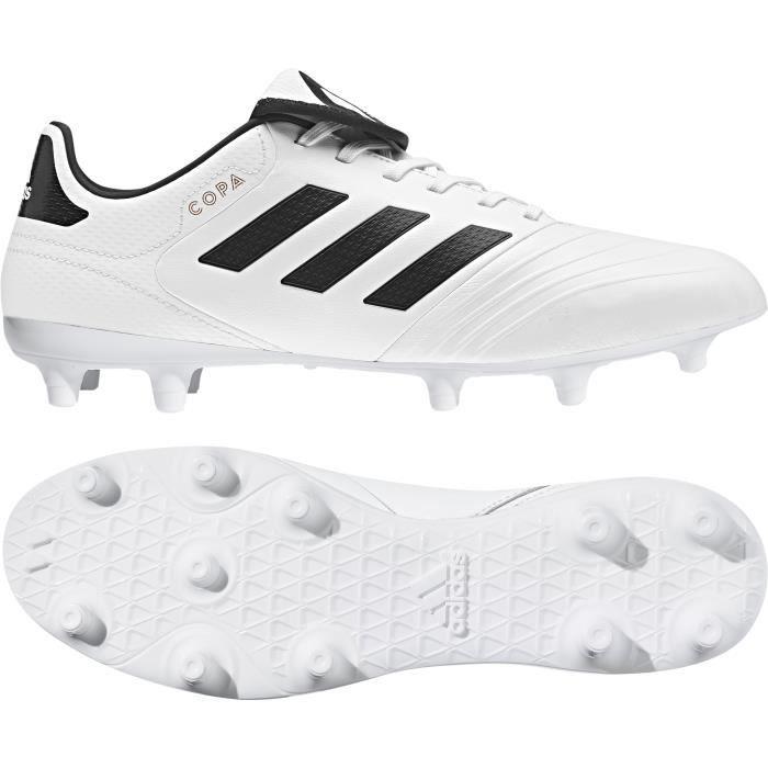 Chaussures de football adidas Copa 18.3 FG - blanc/noir/gris - 39 1/3