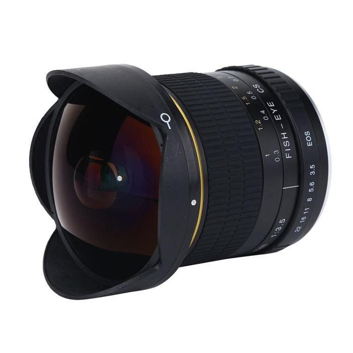 OBJECTIF ROMANTIC 8 mm f - 3.5 Fisheye Lens Super Grand Ang