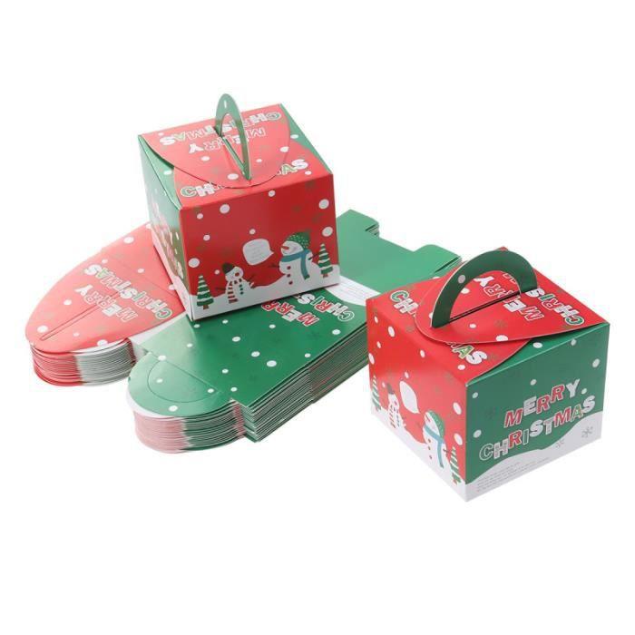 Noël faveur boîtes Noël Table Décoration Noël Boîte Cadeau