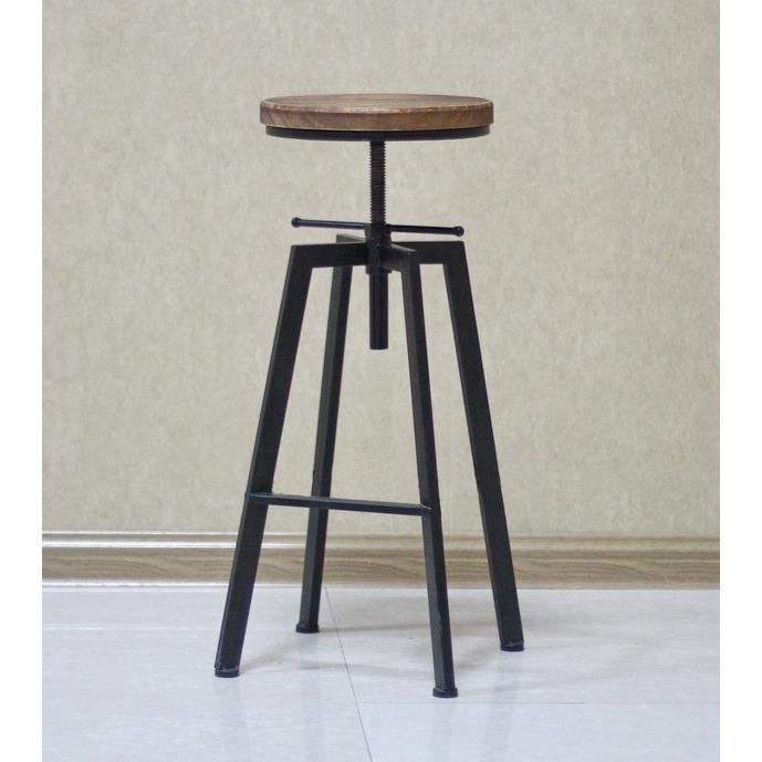 tabouret de bar de peintre sur vis design luxe loft. Black Bedroom Furniture Sets. Home Design Ideas