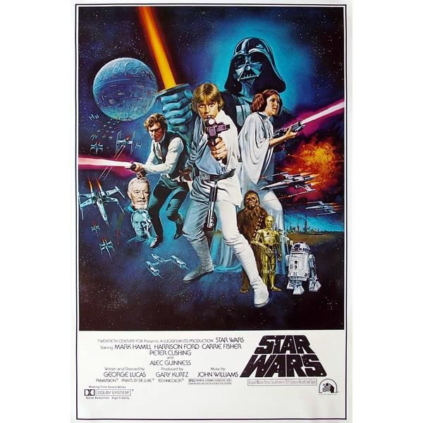 affiche du film vintage star wars 1977 achat vente. Black Bedroom Furniture Sets. Home Design Ideas