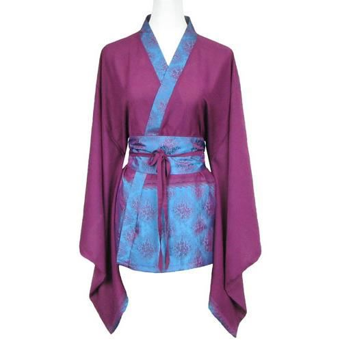 chemise kimono femme en soie violet achat vente. Black Bedroom Furniture Sets. Home Design Ideas