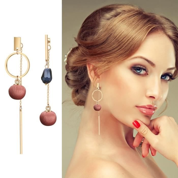 18K plaqué or en acier inoxydable Boucles d/'oreilles créoles Femme Fashion Mariage Bijoux Cadeau