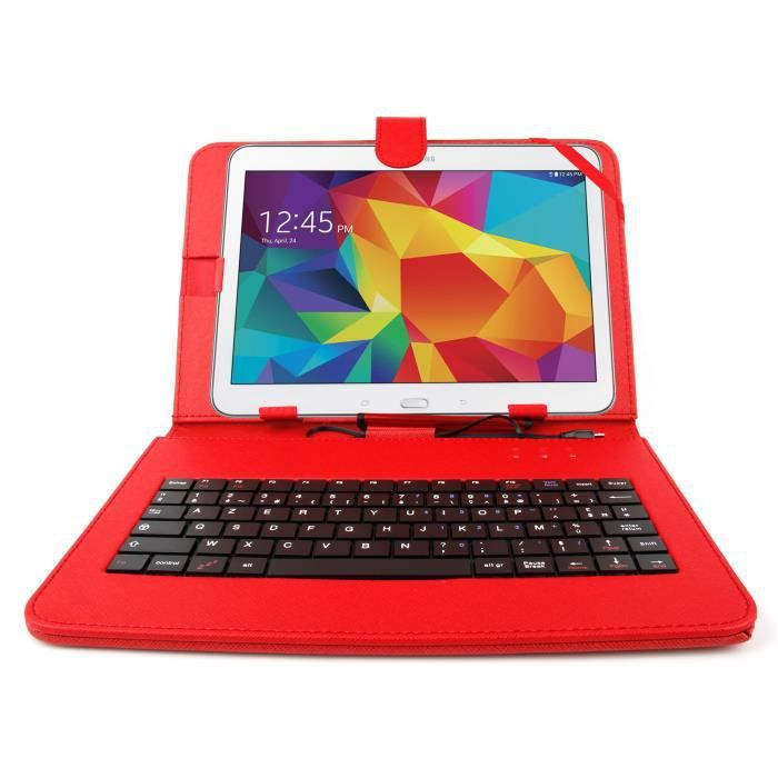 etui rouge clavier pour samsung galaxy tab 4 10 1 prix. Black Bedroom Furniture Sets. Home Design Ideas