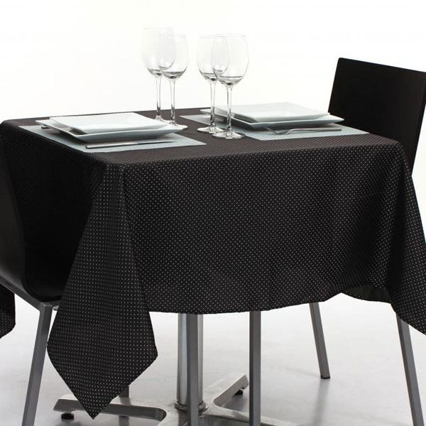 nappe tissu noir table de cuisine. Black Bedroom Furniture Sets. Home Design Ideas