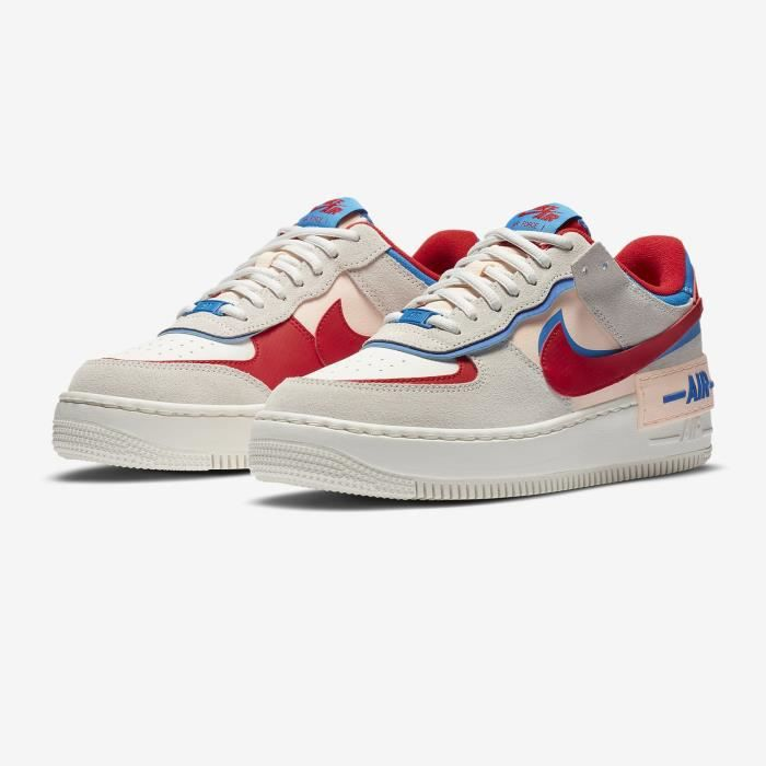 Soldes > nike air force one rouge et blanche > en stock