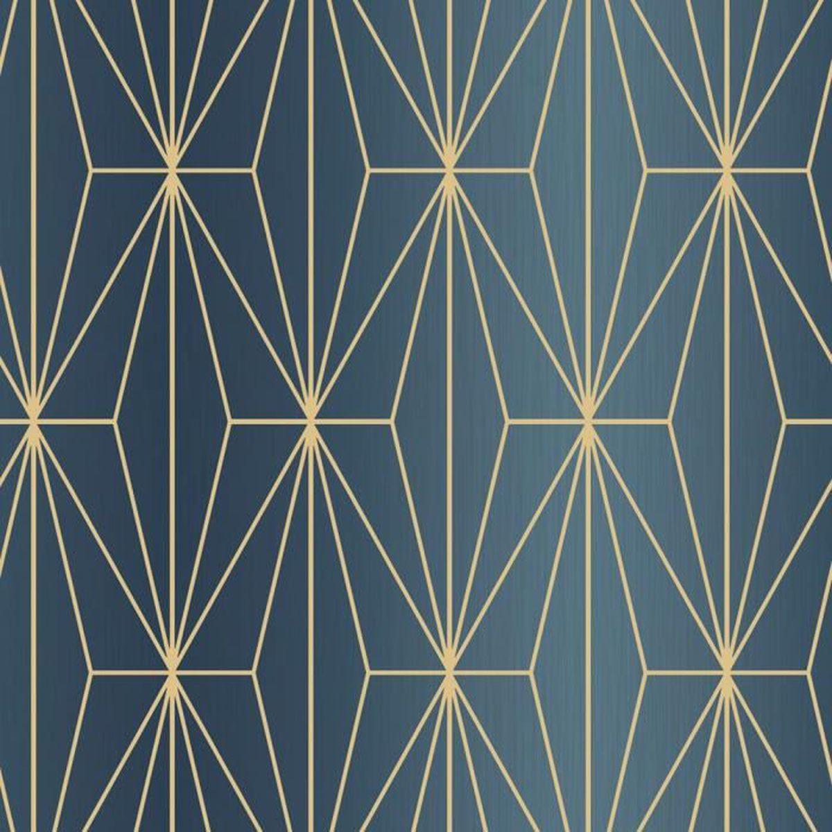 3D Géométrique Papier Peint triangles Diamants Gris Jaune Vinyle Coller mur moderne