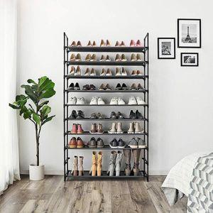 MEUBLE À CHAUSSURES Meuble à Chaussures 10 Étagères Modulables Structu