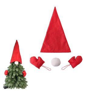 TRIXES Lot de 6 d/écorations sucres dorge Rouge /& Blanc de 15cm pour No/ël