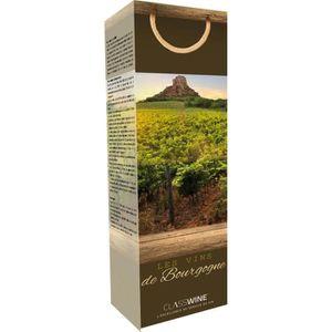 COFFRET CADEAU VIN CLASSWINE Pochette pour 1 bouteille vin de Bourgog