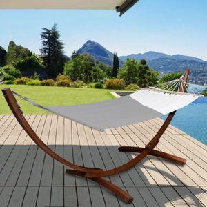 HAMAC Hamac XL avec support bois et toile écrue