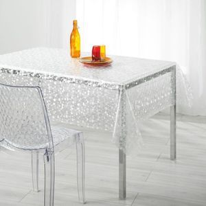 nappe rectangulaire transparente paillettes argent. Black Bedroom Furniture Sets. Home Design Ideas