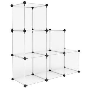 ARMOIRE DE CHAMBRE Langria 6 Cubes Armoire Penderie Motif Storage Mod