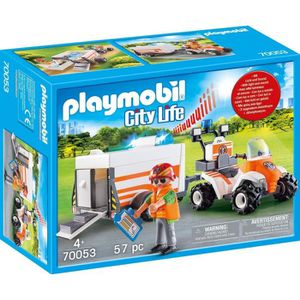 UNIVERS MINIATURE PLAYMOBIL 70053 - City Life Les Secouristes - Quad