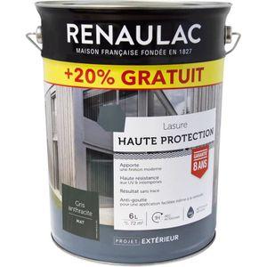 Lasure Haute Protection 5 L Gris Anthracite Mat Home